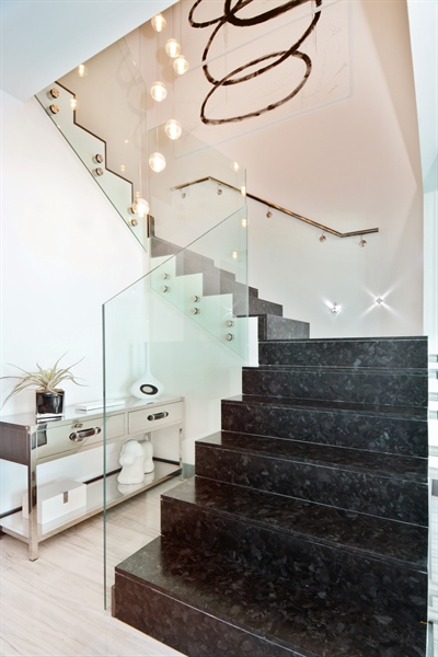 Real Estate Photography - 3301 NE 183rd St, Unit 3008, Aventura, FL, 33160 - Staircase