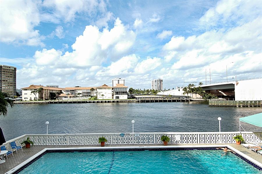 Real Estate Photography - 1825 S Ocean Dr, Unit 404, Hallandale Beach, FL, 33009 - Pool