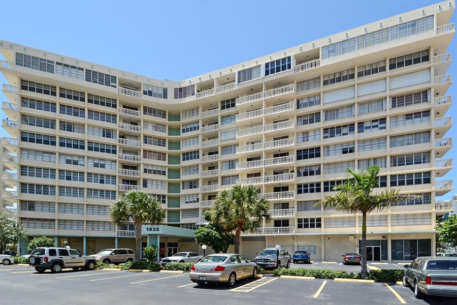 Real Estate Photography - 1825 S Ocean Dr, Unit 404, Hallandale Beach, FL, 33009 - Front View