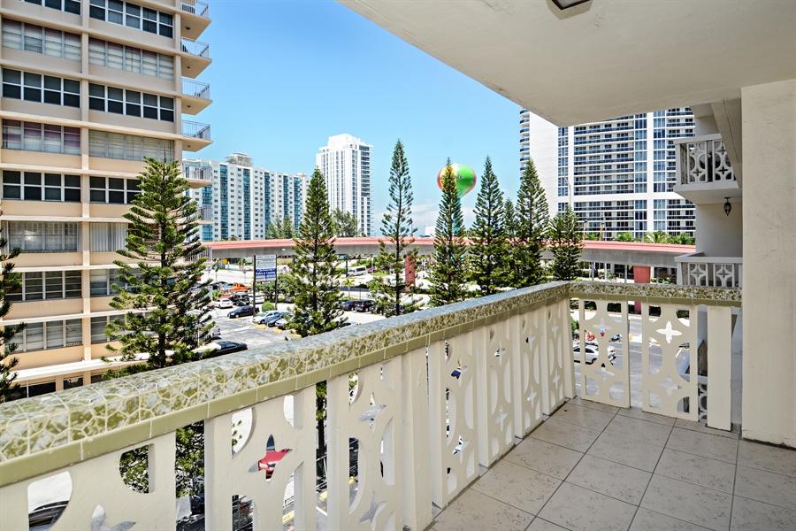 Real Estate Photography - 1825 S Ocean Dr, Unit 404, Hallandale Beach, FL, 33009 - Balcony