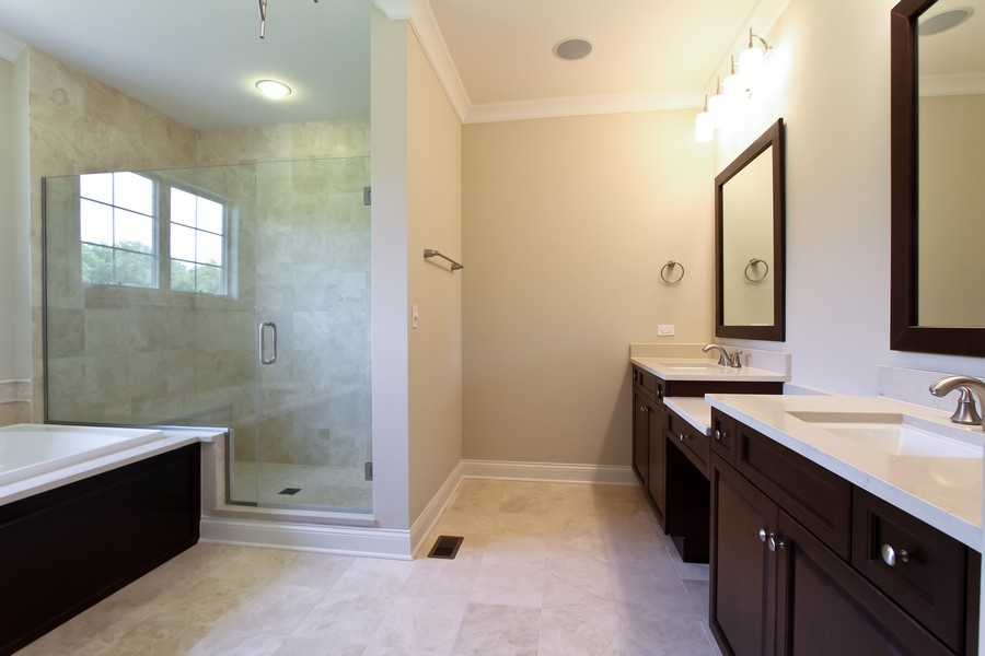 Real Estate Photography - Enclave Of Heritage Estates, Lake Barrington, IL, 60010 - Master Bathroom