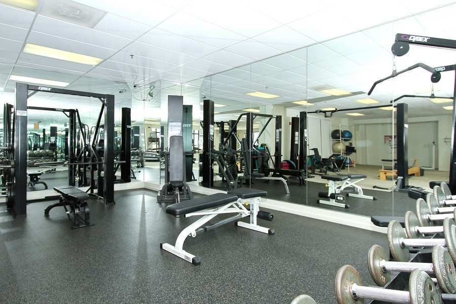 Real Estate Photography - 55 W Delaware Pl, Unit 501, Chicago, IL, 60610 - Fitness Room Weight Area