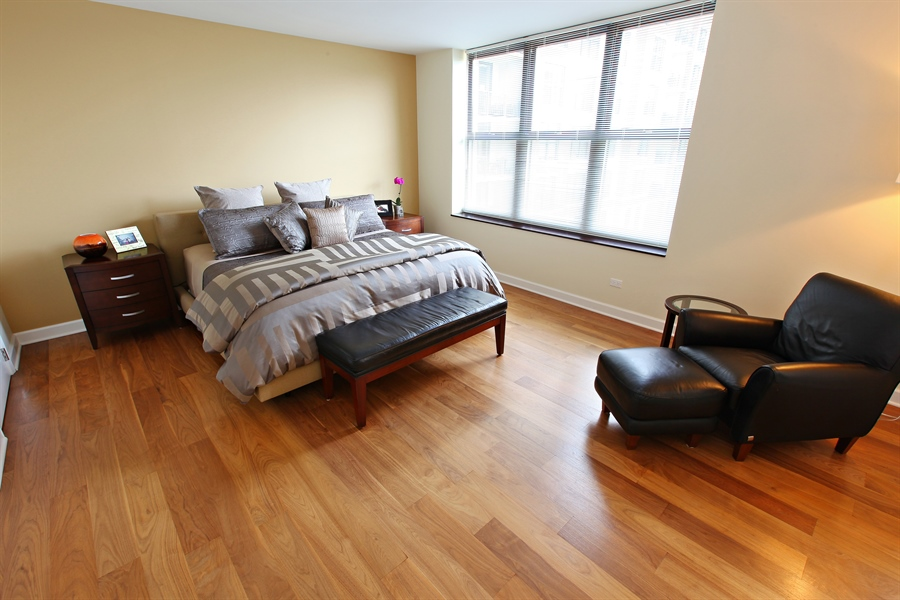 Real Estate Photography - 55 W Delaware Pl, Unit 501, Chicago, IL, 60610 - Master Bedroom