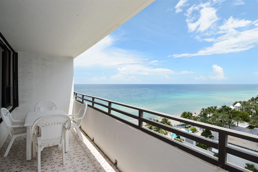Real Estate Photography - 3505 S Ocean Dr, Unit 1116, Hollywood, FL, 33019 - Balcony