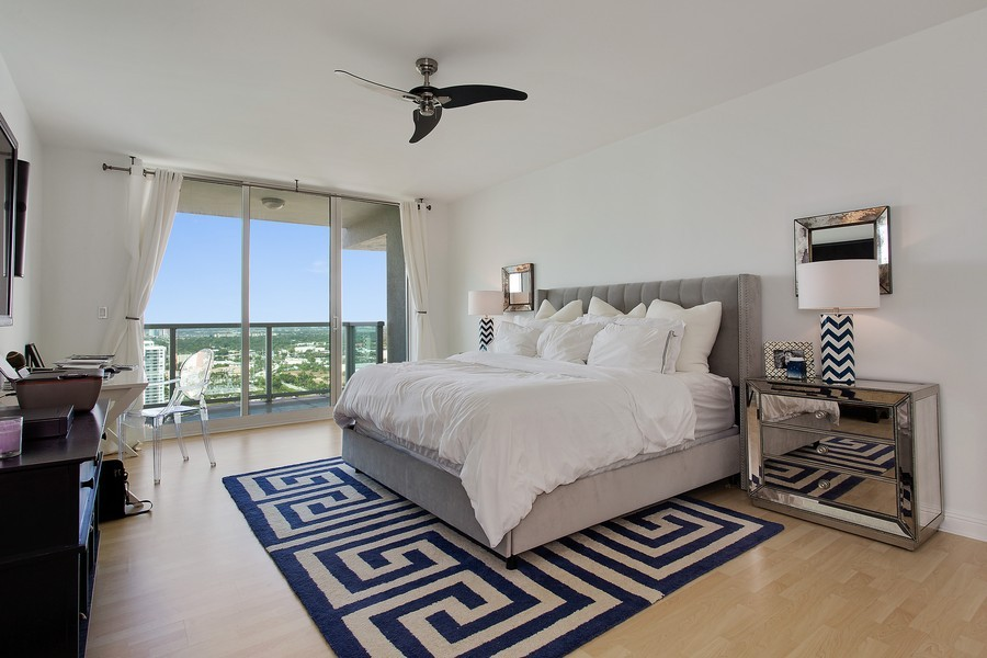 Real Estate Photography - 3201 NE 183 St, Unit 2805, Aventura, FL, 33160 - Master Bedroom