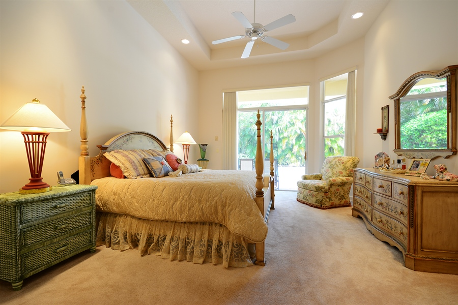 Real Estate Photography - 501 Via Toledo, Palm Beach Gardens, FL, 33418 - Master Bedroom