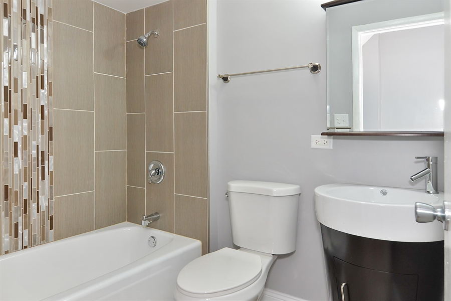 Real Estate Photography - 15026 Oak St, Dolton, IL, 60419 - 2nd Bathroom