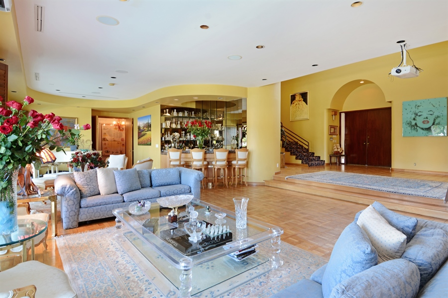 Real Estate Photography - 19565 NE 37th Ave, Aventura, FL, 33180 - Foyer/Living Room