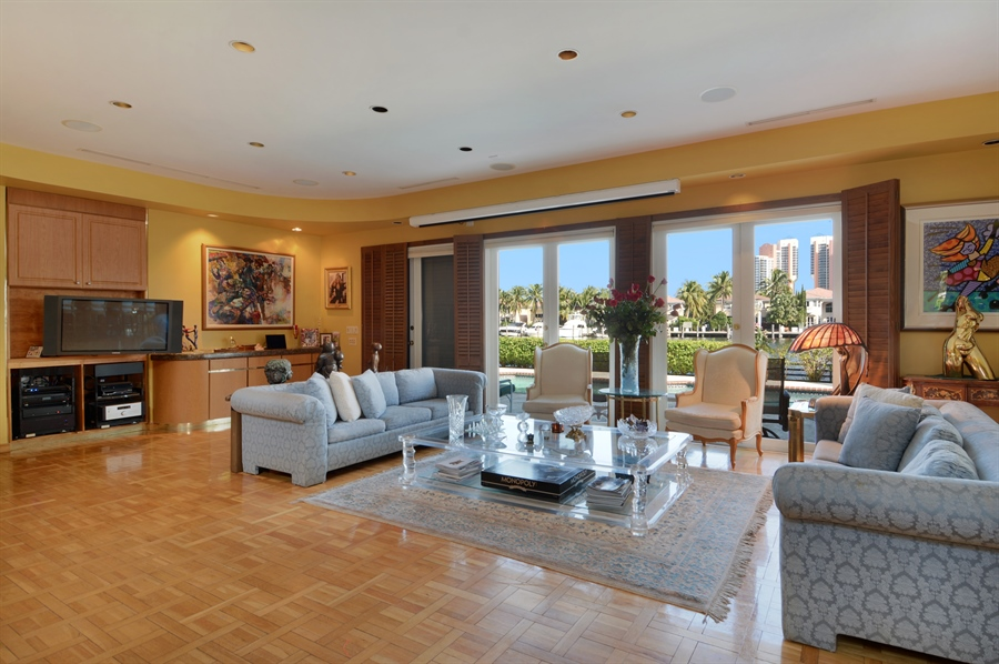 Real Estate Photography - 19565 NE 37th Ave, Aventura, FL, 33180 - Living Room