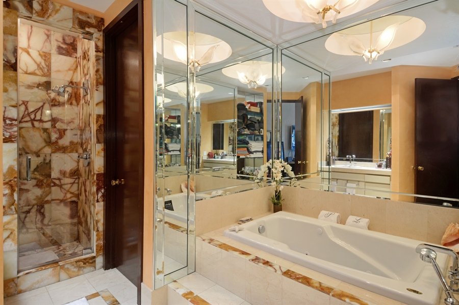 Real Estate Photography - 19565 NE 37th Ave, Aventura, FL, 33180 - 2nd Bathroom