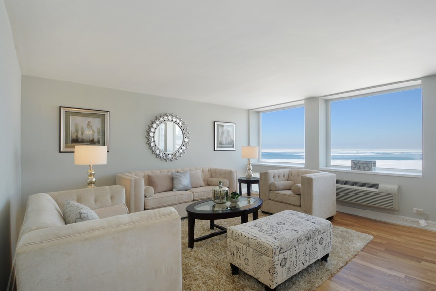 Real Estate Photography - 1110 N Lake Shore Dr, Unit 33S, Chicago, IL, 60611 - Living Room