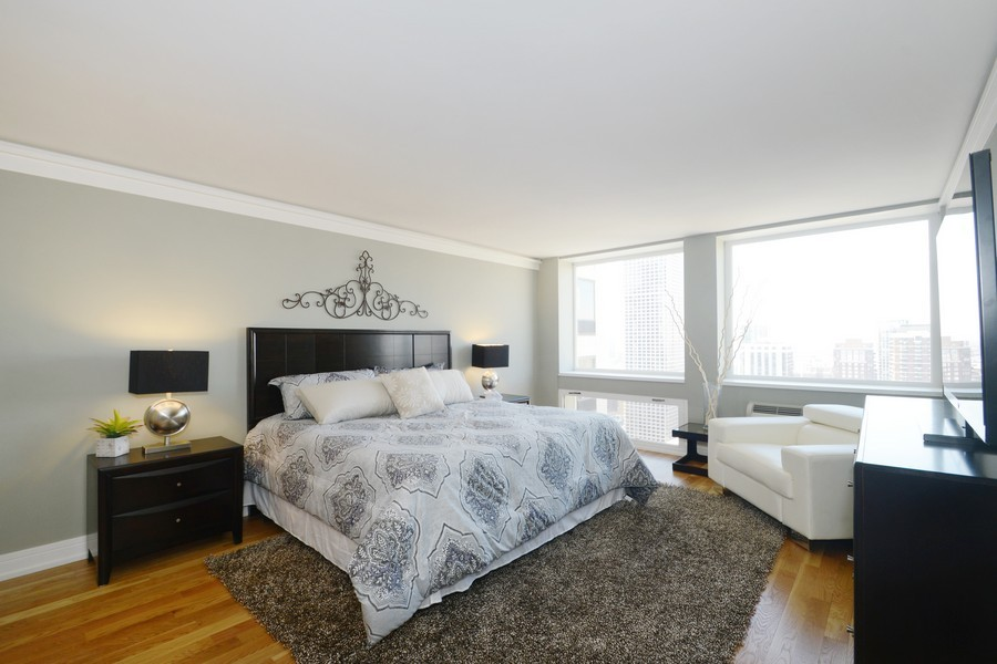 Real Estate Photography - 1110 N Lake Shore Dr, Unit 33S, Chicago, IL, 60611 - Master Bedroom