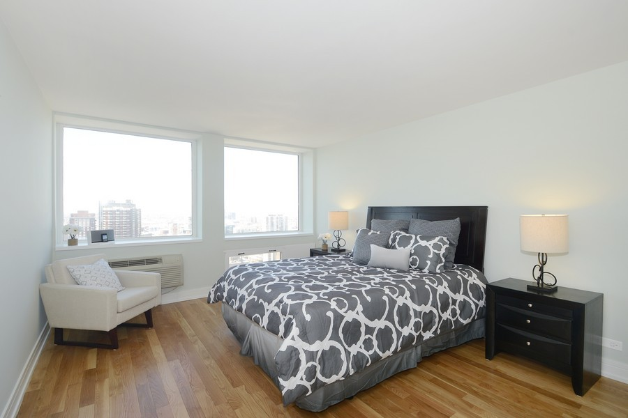Real Estate Photography - 1110 N Lake Shore Dr, Unit 33S, Chicago, IL, 60611 - Bedroom
