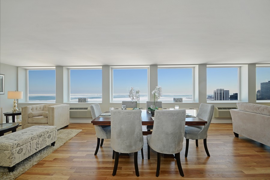Real Estate Photography - 1110 N Lake Shore Dr, Unit 33S, Chicago, IL, 60611 - Dining Room