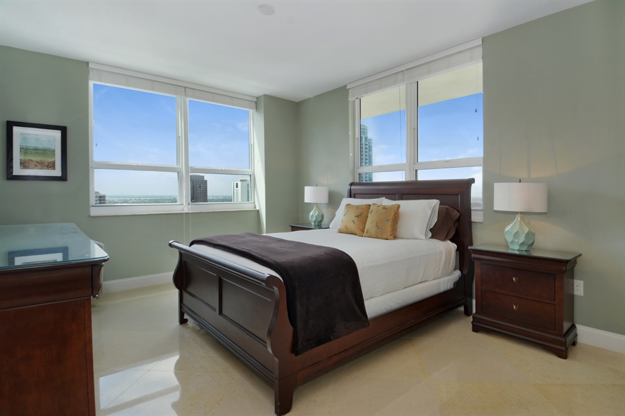 Real Estate Photography - 350 SE 2nd St, 2820, Fort Lauderdale, FL, 33301 - Master Bedroom