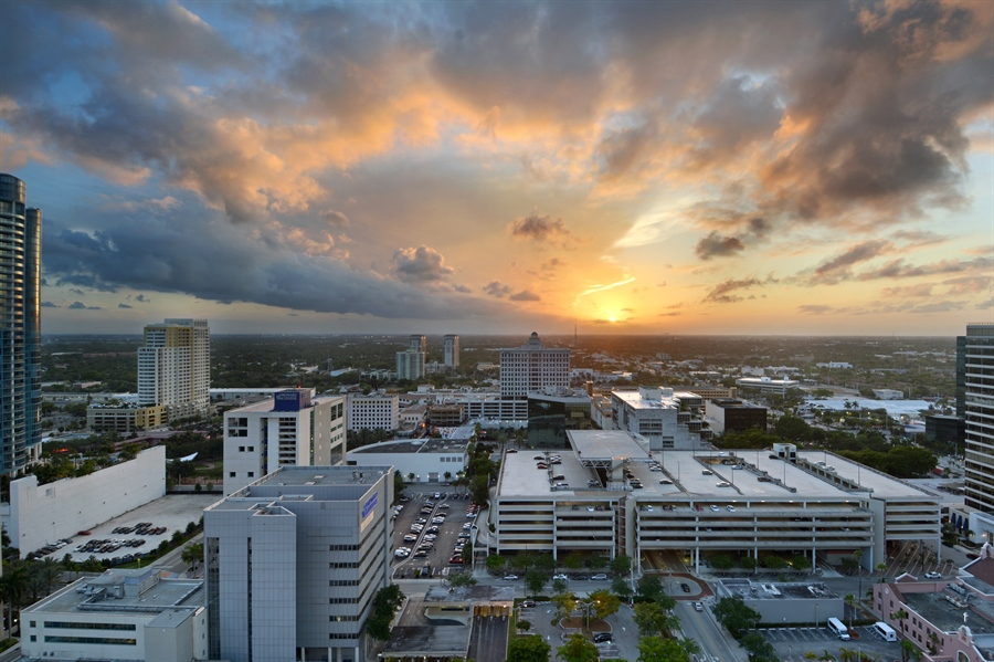 Real Estate Photography - 350 SE 2nd St, 2820, Fort Lauderdale, FL, 33301 - Balcony View