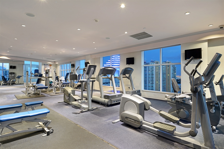Real Estate Photography - 350 SE 2nd St, 2820, Fort Lauderdale, FL, 33301 - Gym