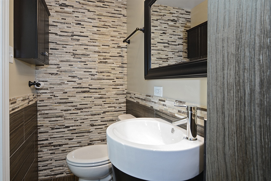 Real Estate Photography - 57 E 161st Pl, South Holland, IL, 60473 - Lower Bathroom View #2