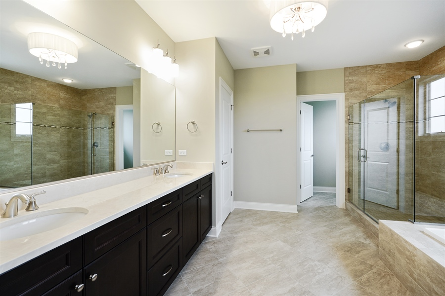 Real Estate Photography - 23245 Enclave Lane, Lot 25, Lake Barrington, IL, 60010 - Master Bathroom