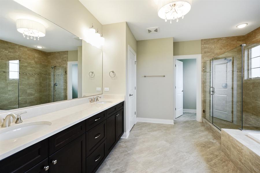 Real Estate Photography - 23245 Enclave Lane, Lot 25, Lake Barrington, IL, 60010 - Master Bathroom