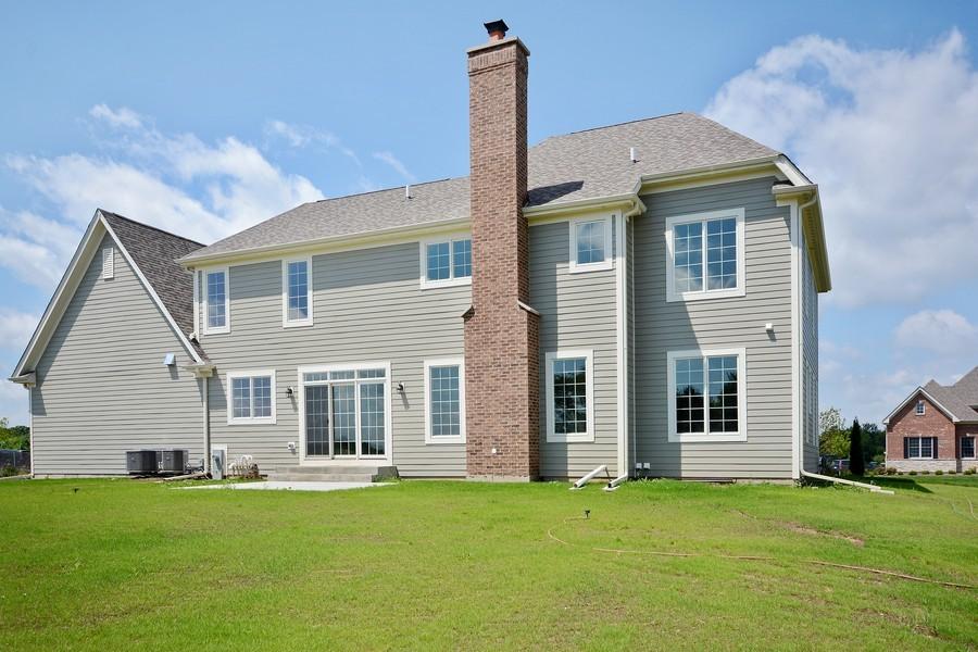 Real Estate Photography - 23245 Enclave Lane, Lot 25, Lake Barrington, IL, 60010 - Rear View