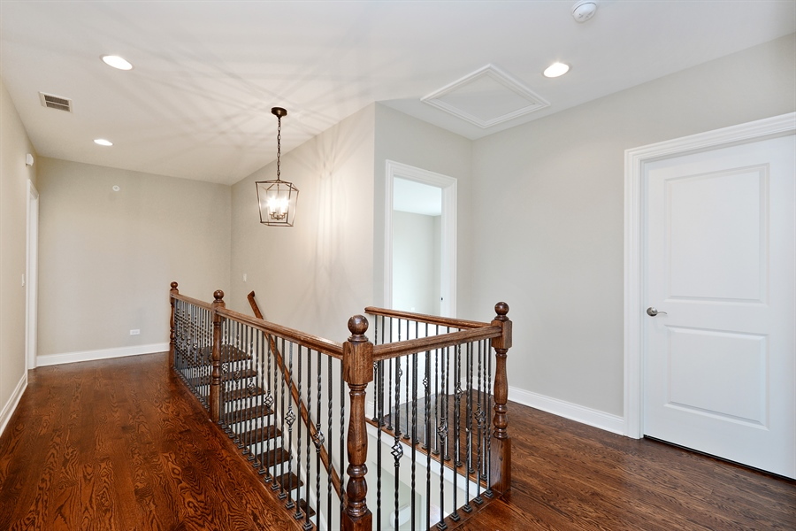 Real Estate Photography - 23245 Enclave Lane, Lot 25, Lake Barrington, IL, 60010 - Staircase