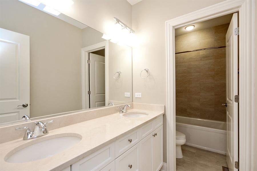 Real Estate Photography - 23245 Enclave Lane, Lot 25, Lake Barrington, IL, 60010 - 2nd Bathroom