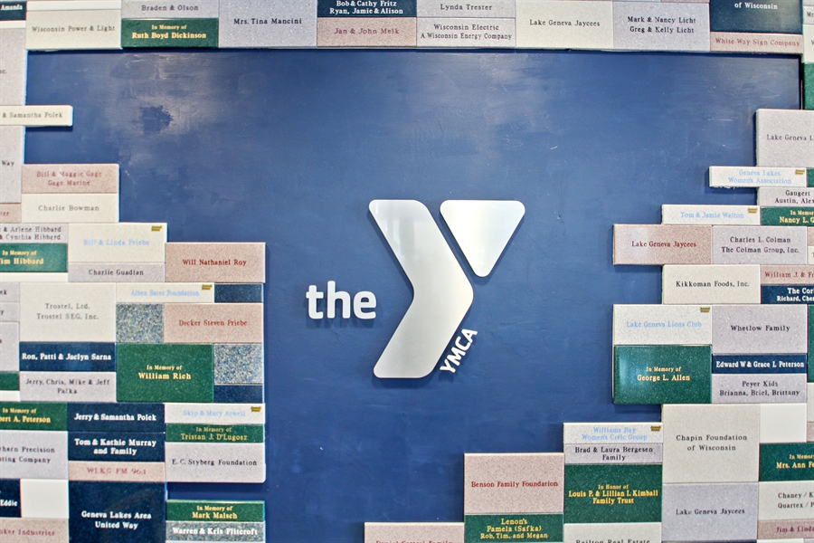 Real Estate Photography - 203 S Wells St, Lake Geneva, WI, 53147 - YMCA donor wall