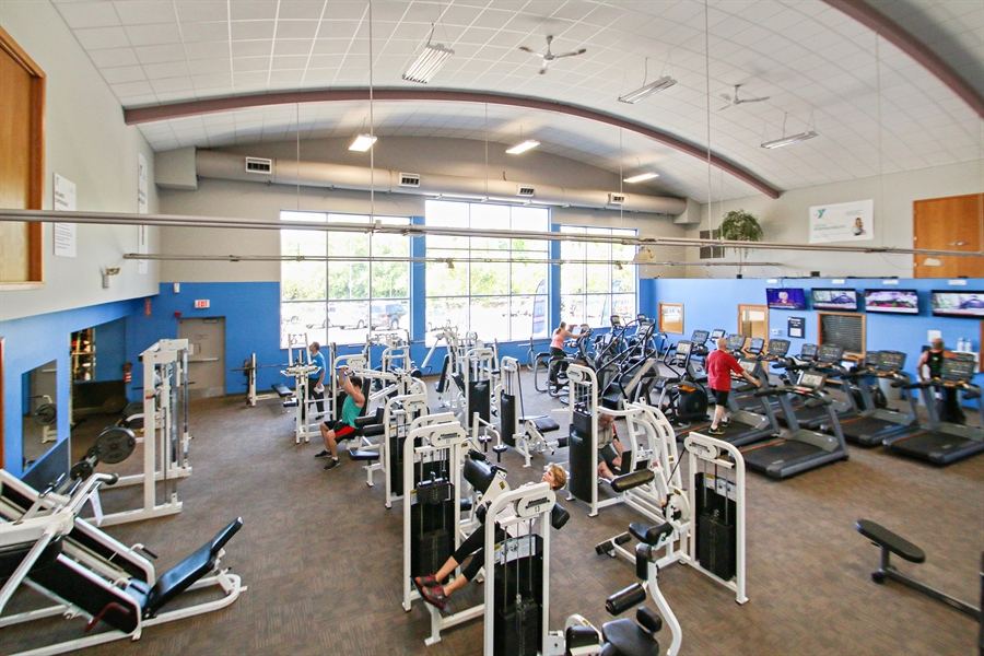 Real Estate Photography - 203 S Wells St, Lake Geneva, WI, 53147 - Spacious YMCA Wellness Center