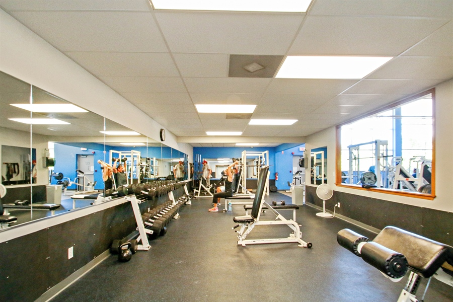 Real Estate Photography - 203 S Wells St, Lake Geneva, WI, 53147 - YMCA Free Weight Room