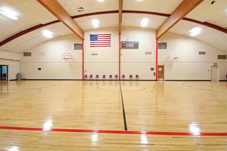 Real Estate Photography - 203 S Wells St, Lake Geneva, WI, 53147 - The Spacious YMCA/Priebe Gym