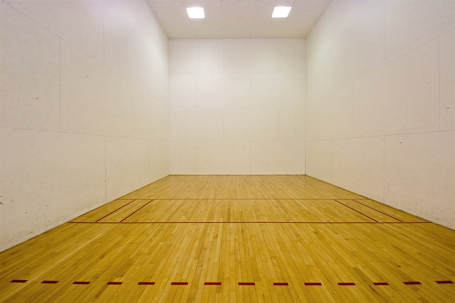 Real Estate Photography - 203 S Wells St, Lake Geneva, WI, 53147 - Two Racquetball Courts for Open or League Play