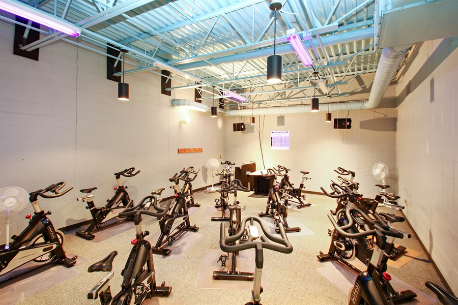 Real Estate Photography - 203 S Wells St, Lake Geneva, WI, 53147 - YMCA Cycle Studio