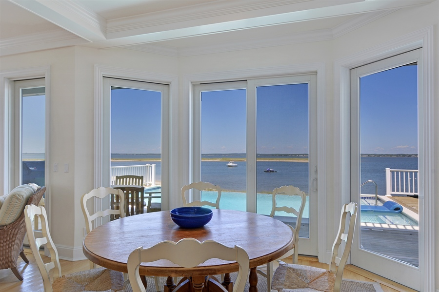 Real Estate Photography - 708 Dune Rd, Westhampton Beach, NY, 11978 - Dining Room