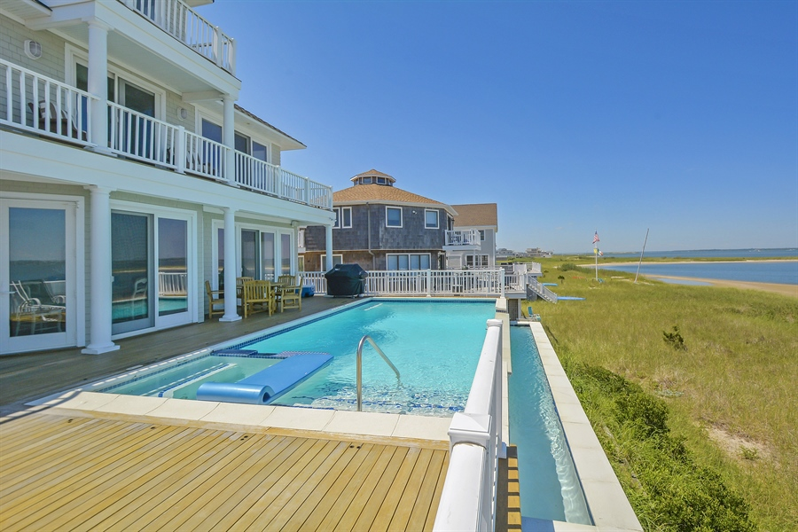 Real Estate Photography - 708 Dune Rd, Westhampton Beach, NY, 11978 - Rear View