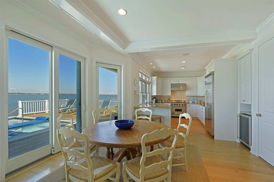 Real Estate Photography - 708 Dune Rd, Westhampton Beach, NY, 11978 - Kitchen / Dining Room