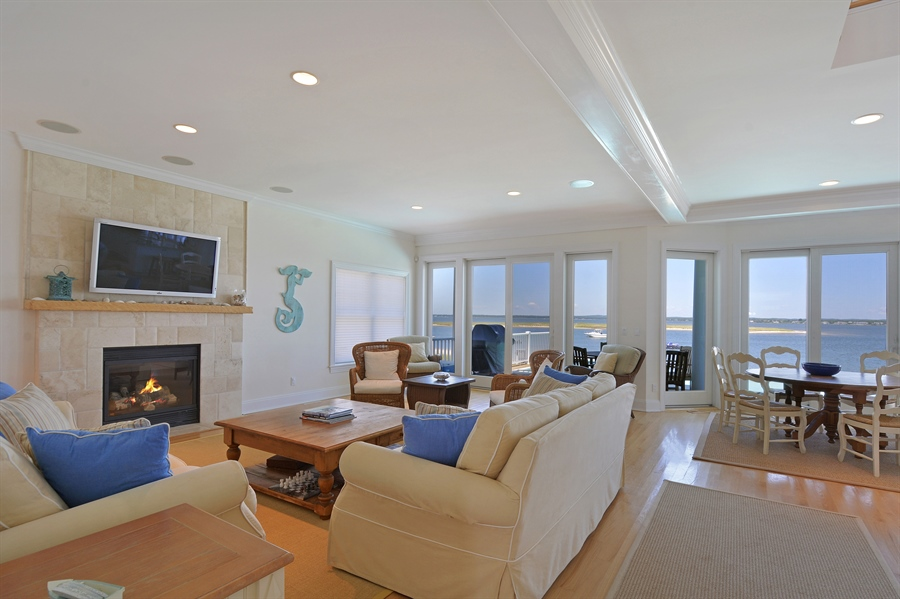 Real Estate Photography - 708 Dune Rd, Westhampton Beach, NY, 11978 - Living Room / Dining Room