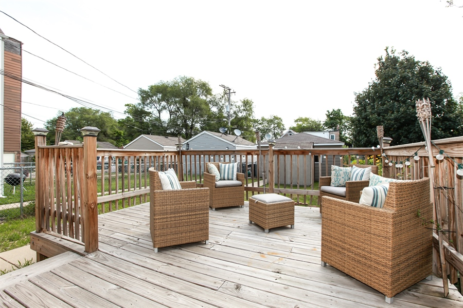 Real Estate Photography - 1515 S. Harding Ave, Chicago, IL, 60623 - Deck