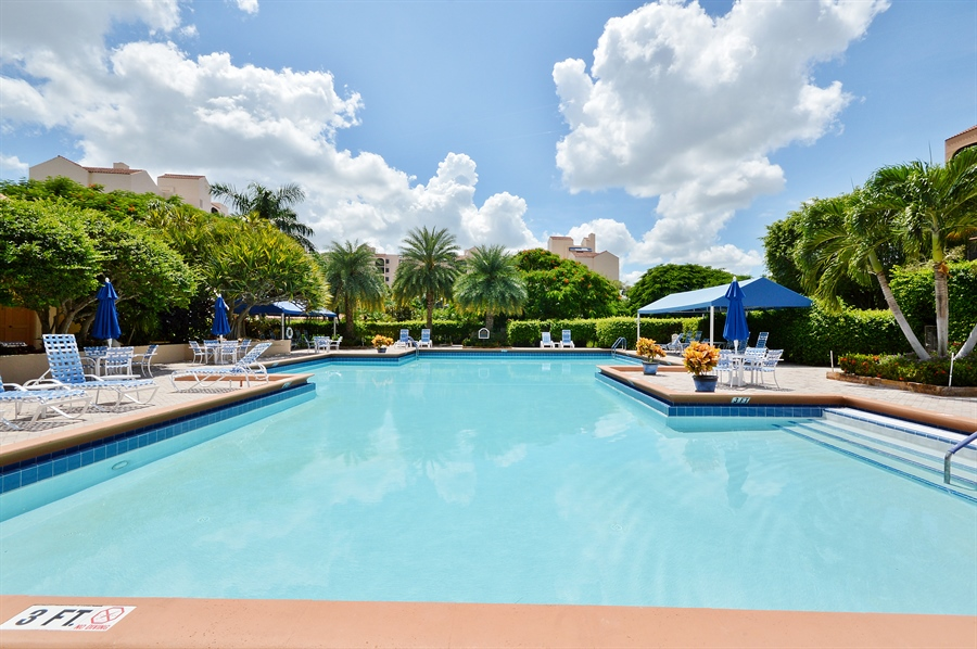 Real Estate Photography - 7194 Promenade, 101, Boca Raton, FL, 33433 - Pool