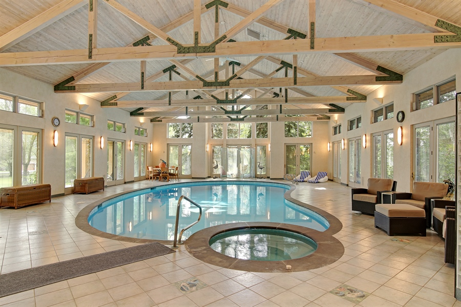 Real Estate Photography - 8400 Kearney, Downers Grove, IL, 60516 - Indoor Pool
