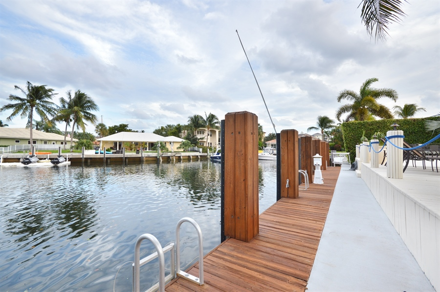 Real Estate Photography - 3900 NE 6th Dr., Boca Raton, FL, 33431 - Dock