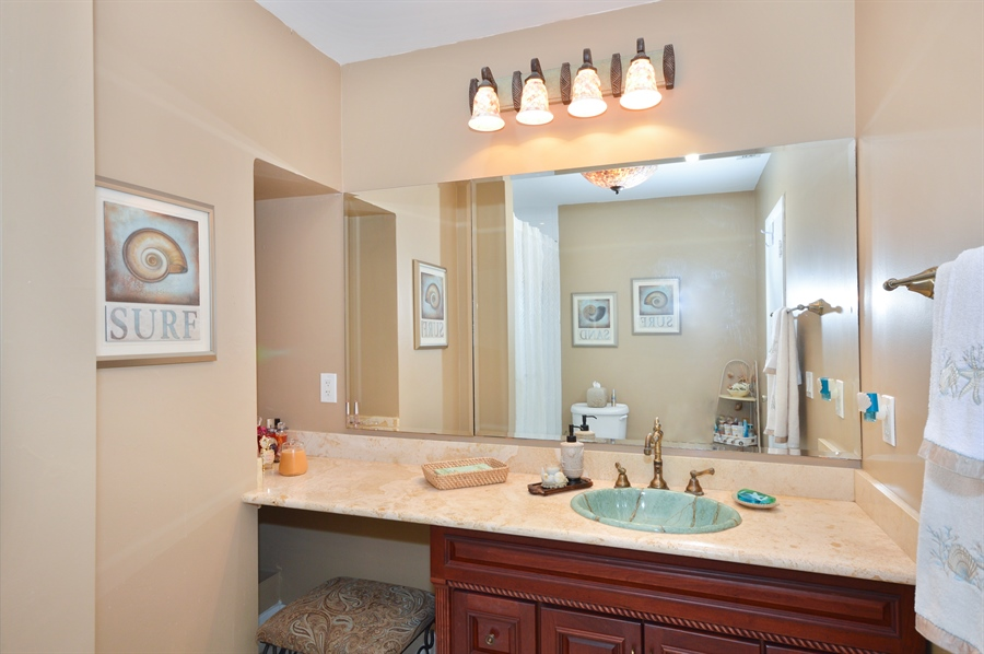 Real Estate Photography - 3900 NE 6th Dr., Boca Raton, FL, 33431 - Hers Master Bathroom
