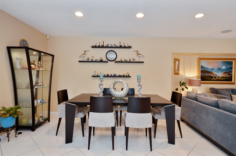 Real Estate Photography - 3900 NE 6th Dr., Boca Raton, FL, 33431 - Dining Room