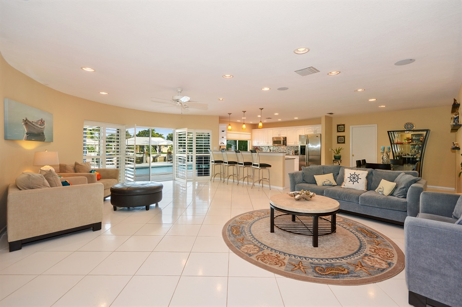 Real Estate Photography - 3900 NE 6th Dr., Boca Raton, FL, 33431 - Great Room