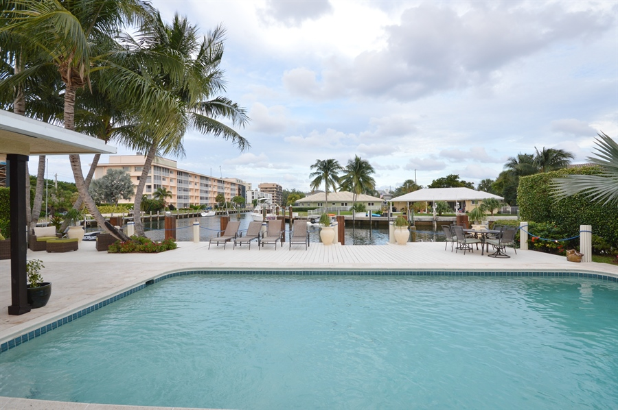 Real Estate Photography - 3900 NE 6th Dr., Boca Raton, FL, 33431 - Pool