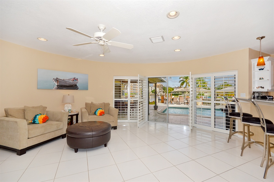 Real Estate Photography - 3900 NE 6th Dr., Boca Raton, FL, 33431 - Family Room