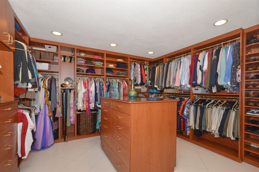 Real Estate Photography - 3900 NE 6th Dr., Boca Raton, FL, 33431 - Master Bedroom Closet/Dressing Room
