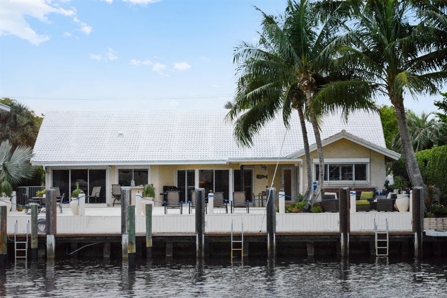 Real Estate Photography - 3900 NE 6th Dr., Boca Raton, FL, 33431 - Rear View