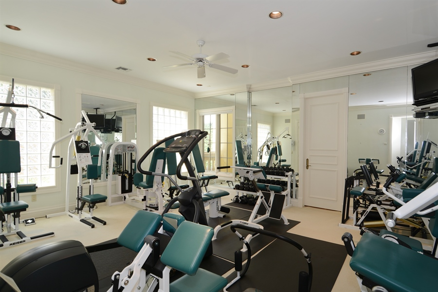 Real Estate Photography - 464 Adison Park Ln, Boca Raton, FL, 33432 - Fitness Room