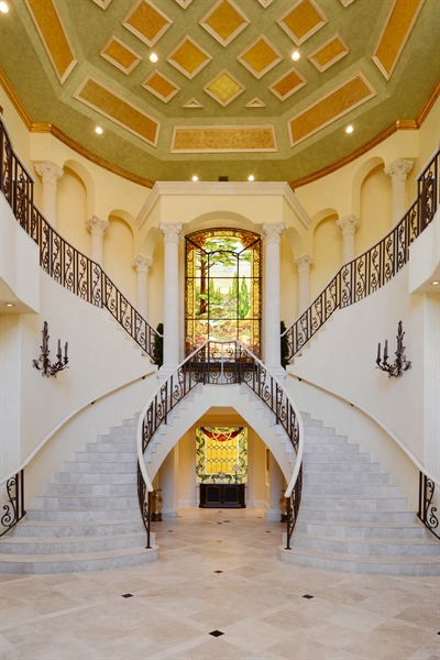 Real Estate Photography - 464 Adison Park Ln, Boca Raton, FL, 33432 - Staircase